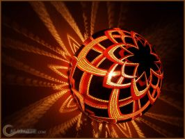 Gourd lamp bracket V night 2 by Calabarte