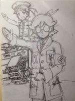 Nazist commander Bonnie and scientist Clemont by Empire-of-PokeJapan