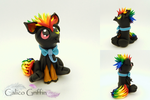 Arco the baby griffin - polymer clay sculpture by CalicoGriffin