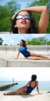 Commercial style shots for a swimsuit ad test. by Saledin