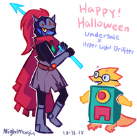 Undyne Drifter by NightMargin