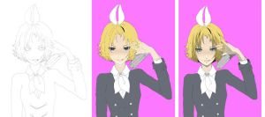 Secret Police - Rin Kagamine (In Progress) by SaffronArc