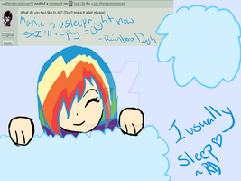 What do i like to do! {Rainbow Dash Answer} by ask-theawesomepair