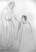 Harry and Dumbledore by LambOfTheLionxox