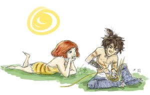 The Croods - Eep admires Guy's skills by anla