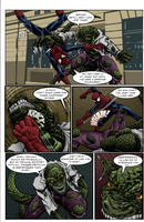 Spidey vs. Lizard and Godzilla by ekotek