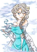 Elsa I ( from Disneys Frozen) by LadyAstrogah