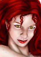 Turn me red face detail by FoxDie49