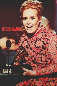 adele in the 55th grammy by Estelaessie