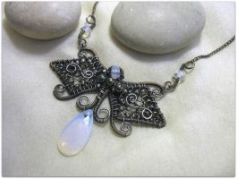 Moonstone Necklace by MayaHandmade