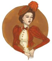 Victorian Pin Up by LaTaupinette