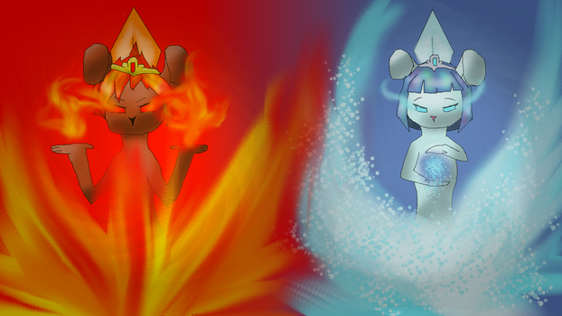 Fire and Ice by LittleNightshade
