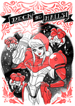Santa Samus by babsdraws