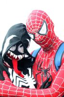 Spiderman and Venom by aaawhyme