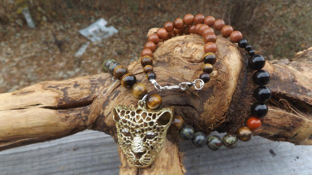 For the Love of Jaguar Necklace by WyckedDreamsDesigns
