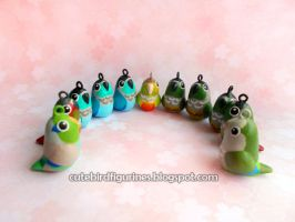 Parrotlet conure quaker clay charms by emmil