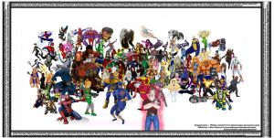 100 Marvel Characters Super Collaboration by MajinNeda