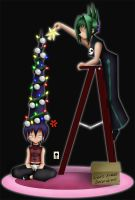 Decorating for Christmas by hakojo