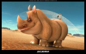 Happy Rhino by ViraA