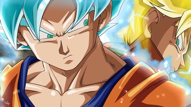 Goku and Trunks - Dragon Ball Super by Scorch-Art