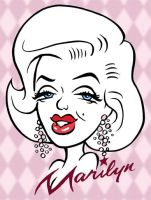 Marilyn Caricature www.funface by Caricature-Guy