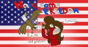 HERE HAVE FREEDOM by NekoPikmin
