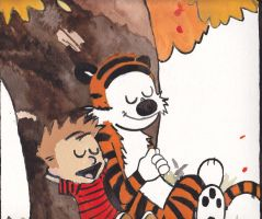 Calvin and Hobbes by Vampenxwitch
