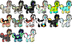 Wolf breedables!! *free pups with order* CLOSED by XToxicWastelandx