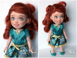 Little Merida mini doll repaint by kamarza