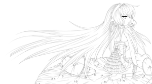 Strawberry Chobits Linework by Trinity-In-Rainbows