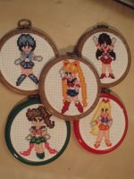 Sailor Scouts Cross Stitch by micadjems