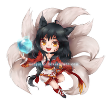 Ahri Chibi Sticker by Seojinni