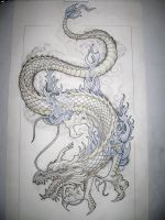 Dragon tattoo design by Tattoo-Design