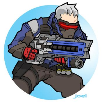 Soldier:76, from Overwatch by JoelRCarroll
