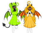 Devil sisters from nowhere. by Lazy-Sheepinkie