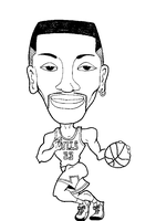 Scottie Pippen Caricature by cyern