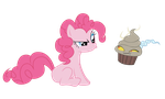 Pinkie with Discord Cupcake by ErisGrim