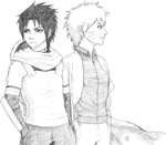 Sketch Request: Naruto and Sasuke by Demasca