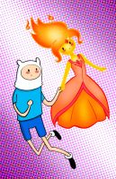 Finn and The Flame Princess by ChibiCelina