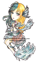 Chibi Commission: Mermaid Lily by silverlynx69