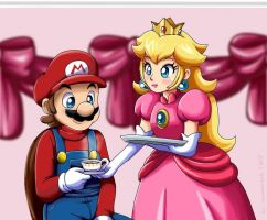 Mario x Peach by CoconCrash