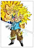 Goku Vs Vegeta Ssj3 Full Power Colored by Gizmo199002