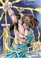 Zeus Sketch Card - Sam Agro by Pernastudios