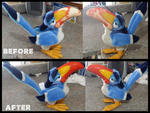 Zazu Before And After by albinoraven666fanart