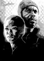 Sasha and Tyreese by Melski83