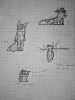 Doodle sheet by BuggerTheFox