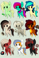 {NYP} Chibi Pony Adopt Batch (CLOSED) by BloodyDoll13