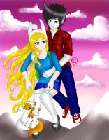 Marshall Lee x Fionna Re Make by MkPropus