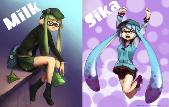 Milk and Sika Inklings by NatahanStudios