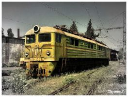 Abandoned soviet train by CayenneS